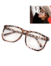 Fashion Gold Color Irregular Frame Decorated Thin Leg Simple Glasses