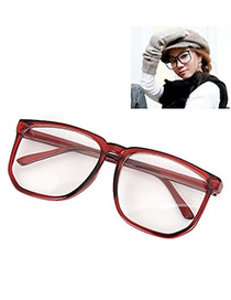 Trendy Silver Color Geometric Shape Frame Decorated Simple Design