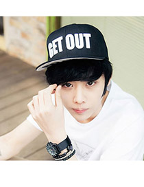 Fashion Black Hollow Out Round Shape Decorated Pure Color Baseball Cap
