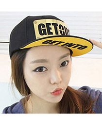 Fashion Black Long Strip Decorated Pure Color Hat