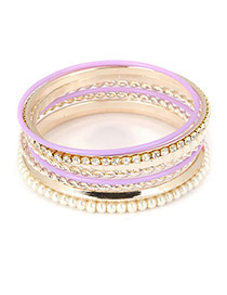 Model: Purple+Gold Color Item Brand: Fashion Bangles