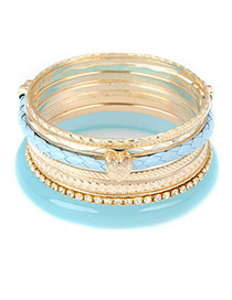Bridesmaid Blue Elegant Pendant Multilayer Alloy Fashion Bangles