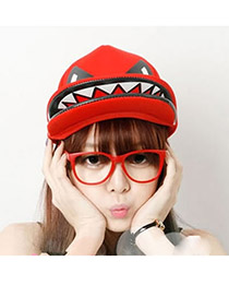 Fashion Pink Finger Pattern Decorated Pure Color Simple Baseball Hat