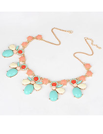 Elephant Multi Colour Bee Pendant Alloy Fashion Necklaces