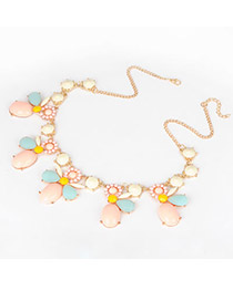 Bulk Multi Colour Bee Pendant Alloy Fashion Necklaces
