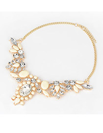Avalon Beige Fashion Multi Geometry Pendant Alloy Korean Necklaces
