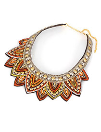 Minted Multicolor Exquisite Flower Fake Collar Alloy Korean Necklaces