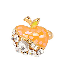 Dreamlike Orange Apple Alloy Fashion Rings