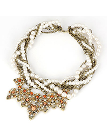 Christenin Champagne Vintage Multilayer Design Alloy Korean Necklaces