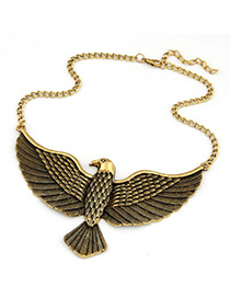 Versace Antique Gold Vintage Eagle Pendant Design Alloy Korean Necklaces