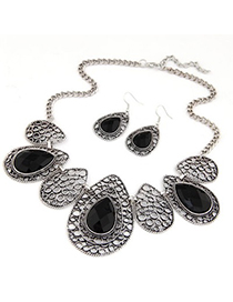 Exaggerate Red Irregularity Shape Decorated Jewelry Sets