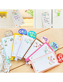 Personality Beige Letters Pattern Decorated Simple Design  Paper Scratch Pad Sticky