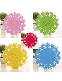 Physical Color Will Be Random Circle Shape Hollow Insulation Felt Household goods