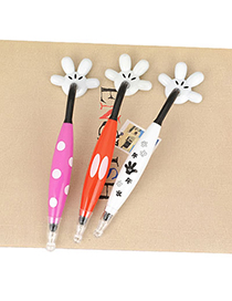 Misses Color Will Be Random Lovely  Mouse Palm  Design Plastic Writing Pens