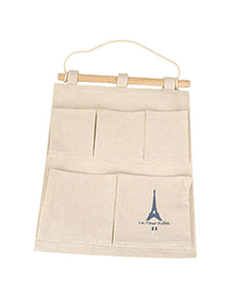 Cranes Color Will Be Random Eiffel Tower Pattern Cotton And Hemp Household goods