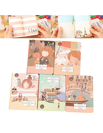 Mini Color Will Be Random Floating Town Cartoon Design Paper Notebook Agenda