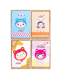 Lovely Random Color Girl Pattern Simple Design Paper Stickers Notebook Paper Notebook Agenda