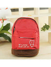 Custom Bright Red Mini Bookbag Design Canvas Other Creative Stationery