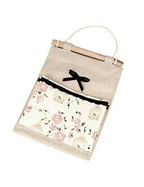 Fashion Apricot Bowknot&Birdcage Decorated Design Linen Household goods