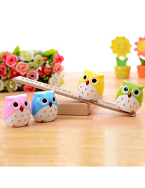 Hooters Color Will Be Random Owl Shape Simple Design Plastic Other Creative Stationery