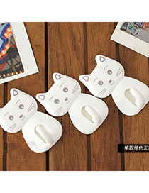 Dreamlike White Lovely Cat Shape Design Resin Household goods
