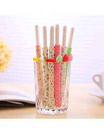 Cute Color Will Be Random Heart&Bowknot Decorated Design Plastic Writing Pens