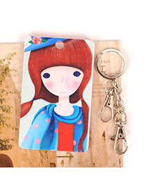 Mink Picture Color Wearing A Blue Scarf Girl Pattern Design Abs Resin Household goods