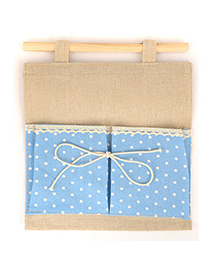 Lucky Sky Blue Double Bags Dot Pattern Design Cotton Household goods