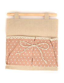 Recycled Pink Double Bags Dot Pattern Design Cotton Household goods