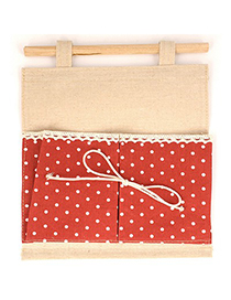 Handmade Red Double Bags Dot Pattern Design Cotton Household goods