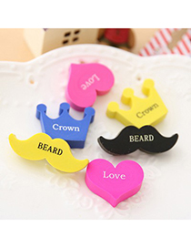 2012 Color Will Be Random Moustache&Crown&Heart Shape Design Rubber Other Creative Stationery