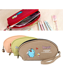 Piercing Color Will Be Random Cute Cartoon Figures Patten Canvas Pencil Case Paper Bags