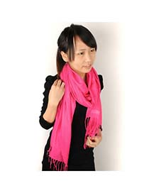 Correspond Plum Red Warmth Monochromatic Design Cashmere Fashion Scarves