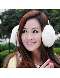 Cheerleadi White Warmth Style Imitate Rabbit Fur Fashion earmuffs