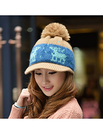 Expensive Khaki Little Deer Pattern Knitting Wool Fashion Hats
