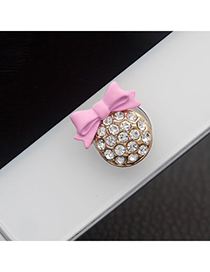 Business Pink Bowknot Iphone Style Alloy Mobile phone products
