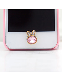 Micro Pink Rabbit Shape Iphone Style Alloy Mobile phone products