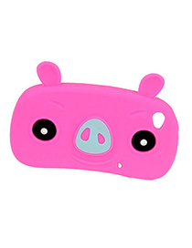 Timeless Plum Red Lovely Pig Design Silicon Iphone 4 4s