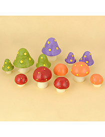 Mexican Color Will Be Random Mushroom Design Resin Household goods