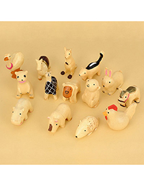 Attractive Color Will Be Random Mini Animal Resin Household goods