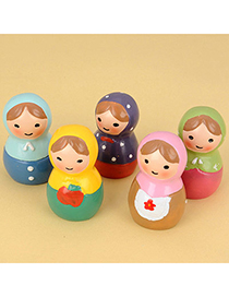 Fabulous Color Will Be Random Russia Doll Design Resin Household goods