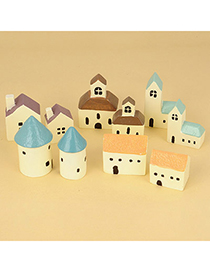 Little Color Will Be Random Mini House Resin Household goods