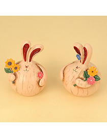 Initial Color Will Be Random Fat Rabbit Design Resin Household goods