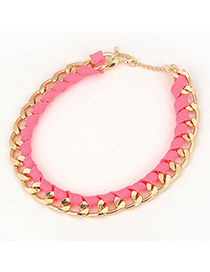 Connor Pink Braided Rope Design Alloy Chains