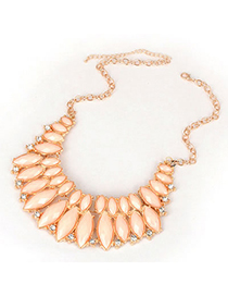 Modern Pink Section Acrylic Design Alloy Korean Necklaces