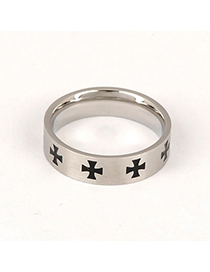 Baltic Black Simple Ring Alloy Fashion Rings