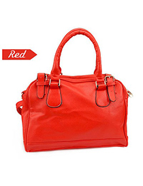 Homecoming Red Simple Design Pu Leather Shoulder bags