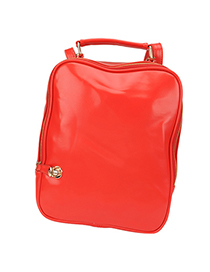 Local Red Multifunction Design Pu Leather Backpack
