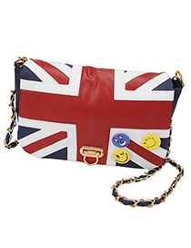 Correspond Blue National Flag Pattern Design Pu Leather Shoulder bags