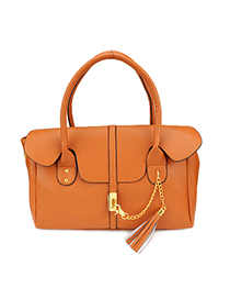 Faddish Orange Tassels Design Pu Leather Shoulder bags